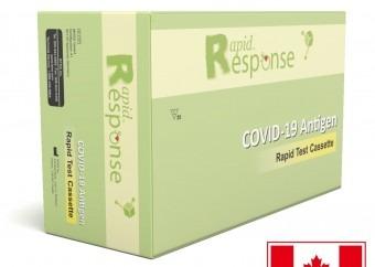 Certifikovaný kanadský antigénový rýchlotest na COVID-19 zo slín Rapid Response Ag s presnosťou 99,5% – 5 ks